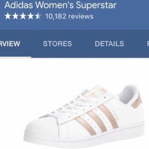 Adidas superstar rose gold sneakers sz 8.5